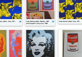 Andy Warhol in veiling