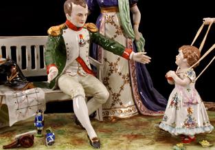 Mooie porseleinen Napoleon