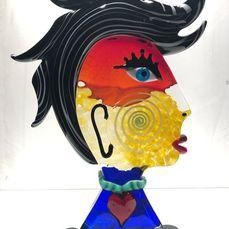 Badioli - Murano - Beeld Homage to Picasso (1) - Glas