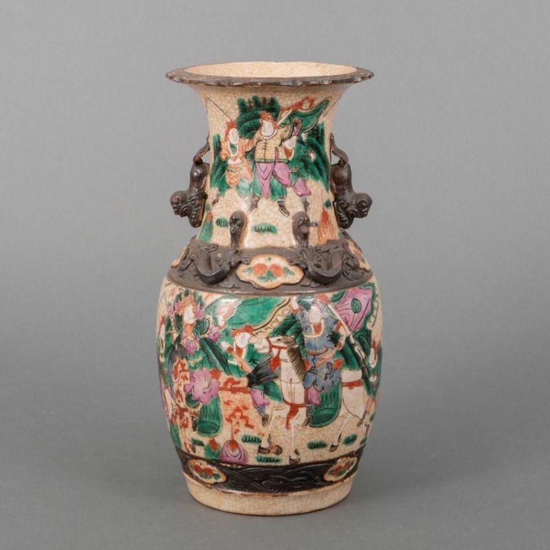 Gecraqueleerde Chinese porseleinen vaas met