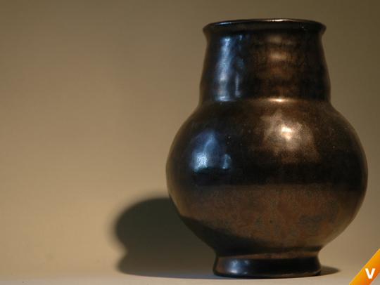 Kamo vaas met bronsglazuur