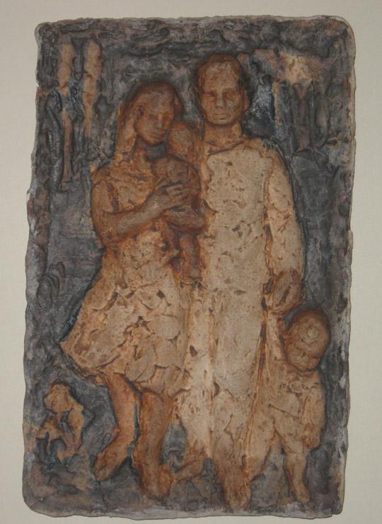 Hanna Mobach tegel met gezin
