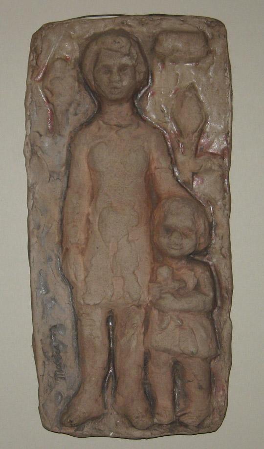 Hanna Mobach tegel met moeder en dochter