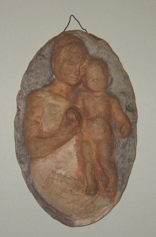 Hanna Mobach tegel met moeder en kind