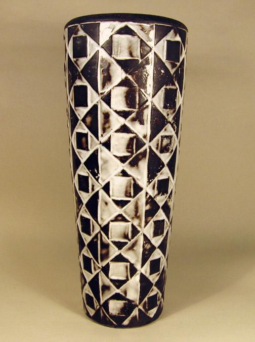 Zwart-wit vaas geometrisch