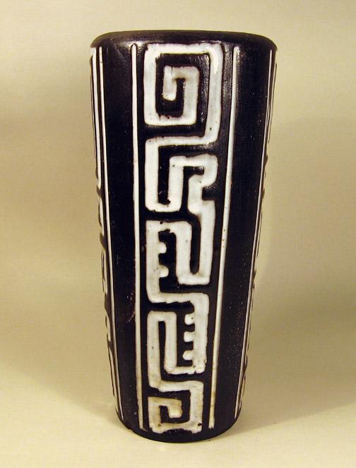 Zwart-wit vaas met motief