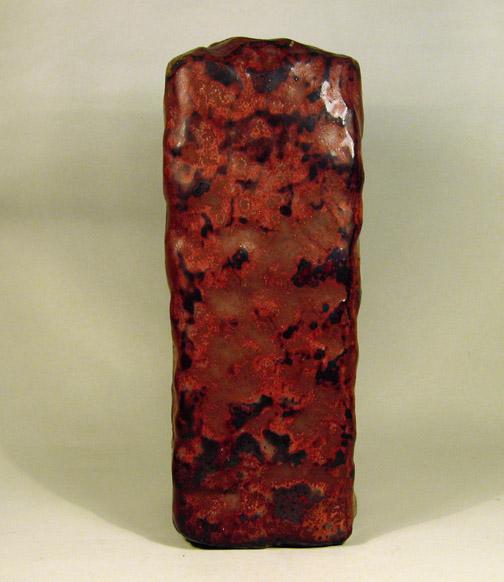 Rode vierkante vaas