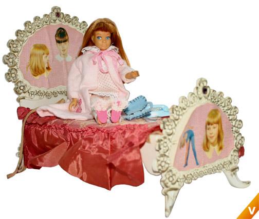 Barbie - Skipper met ledikant
