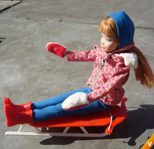 Barbie - Skipper in `Sledding Fun`