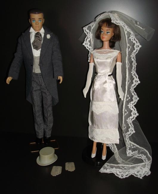 Bruidspaar Barbie en Ken