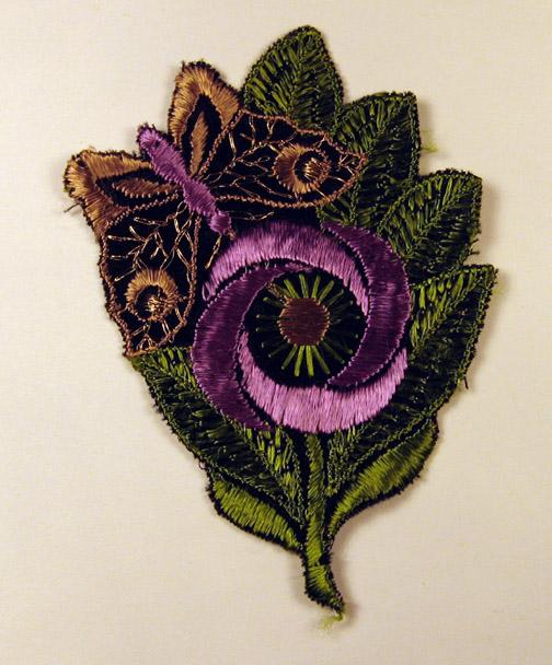 Paarse vlinder en bloem