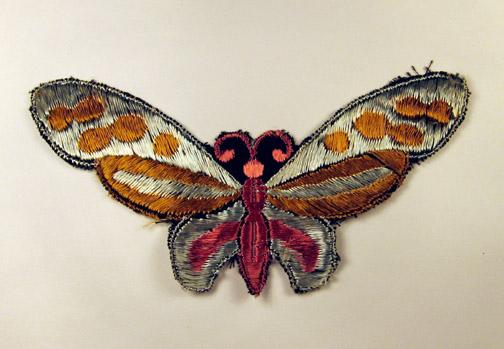 Zilver paars-gele vlinder