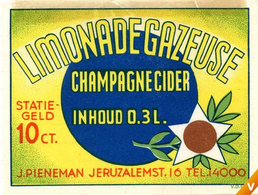 Etiket limonadegazeuse 1940