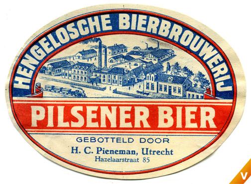 Etiket Hengelosche Bierbrouwerij