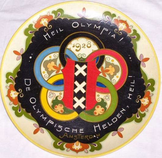 Koudlak wandbord Olympische Spelen 1928