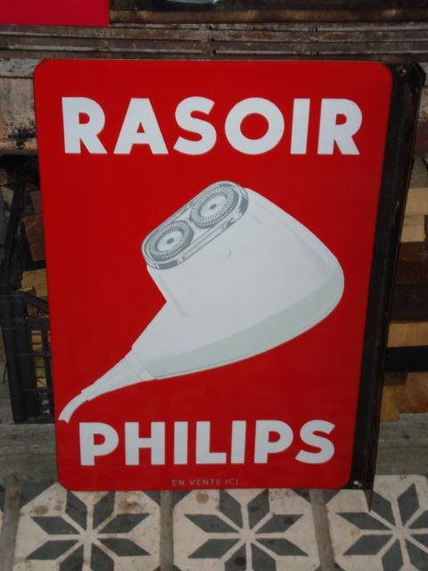 Emaille bord Philips scheerapparaat