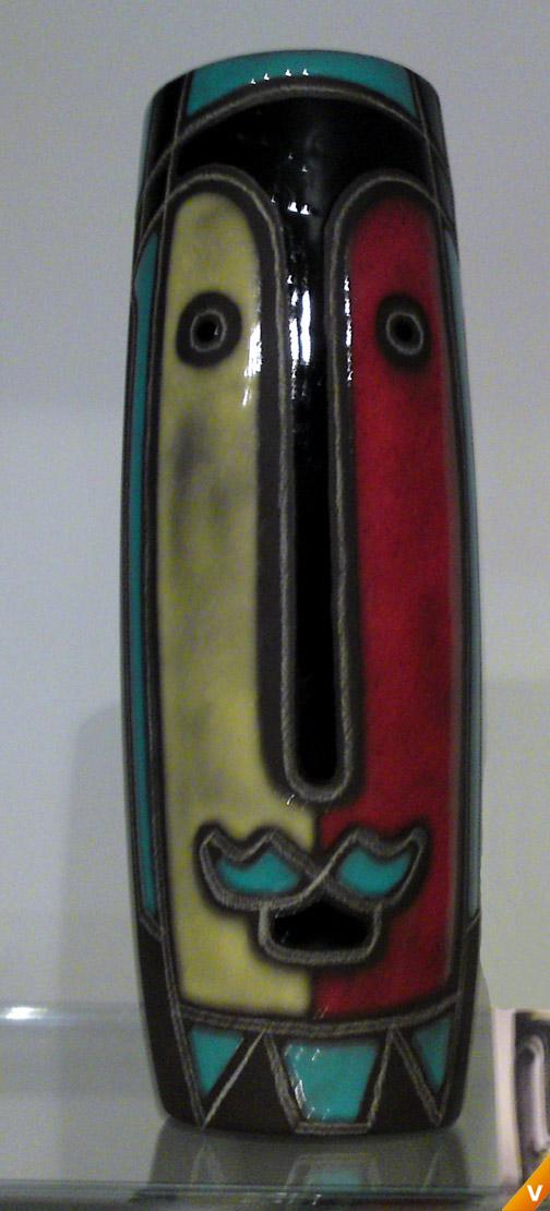 Colorite Maskervaas rood met geel