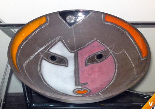 Colorite maskerschaal wit met roze en zwart