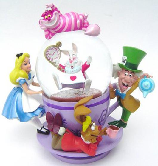Alice in Wonderland snowglobe