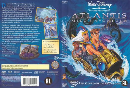 DVD Atlantis Milo`s avontuur