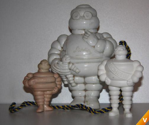 Verschillende Michelinmannetjes