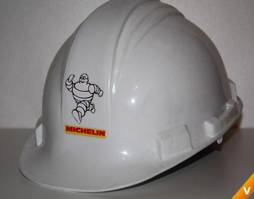 Helm met Bibendum