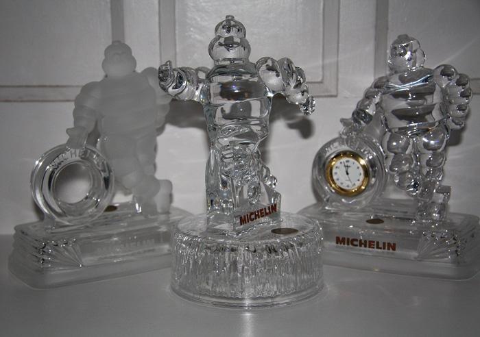 Kristallen Bibendum beeldjes